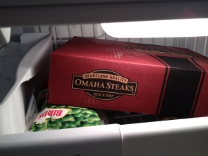 omaha steaks in freezer